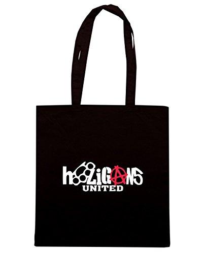 T-Shirtshock - Borsa Shopping TUM0119 Hooligans United Nero