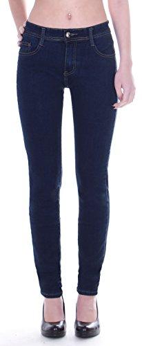 Damen Übergrößen Hochschnitt Jeans Hose Stretch High Waist Röhrenjeans blau 42 bis 50 Damenjeans Damenhose Jeanshose Stretchjeans Stretchhose Hochbund Bund Röhre Over Size Plus Big Gr Größe 50 5XL 3