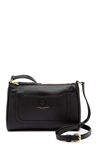 Marc Jacobs borsa a tracolla in pelle nera Crossbody 22x14x6cm