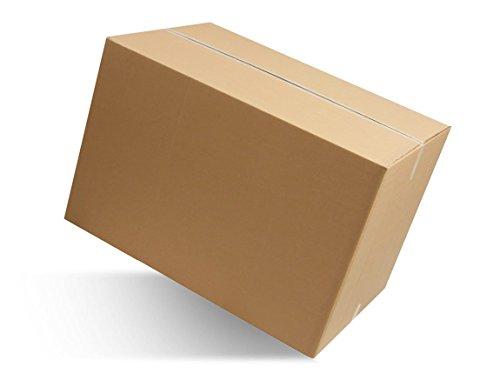 Imballaggi 2000 - scatola di cartone doppia onda - scatoloni 80x60x50 cm - imballaggi per spedizione e trasloco - 10 pezzi
