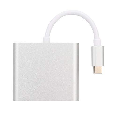 Preisvergleich Produktbild Alomejor Typ C zu HDMI + PD Power Charging + USB3.0 Converter Adapter für Switch Game Console