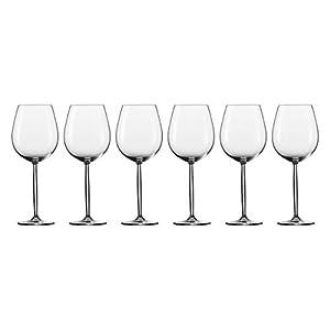 Schott Zwiesel Diva 6-teiliges Burgunder Set Rotweinglas, Glas, transparent, 28.1 x 19.3 x 24.6 cm, 6-Einheiten