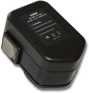 Batteria Ni-MH per per per AEG BBS-, BDSE-, BSB-, BSS-, BBM-Serie, z.B. BBM 14STX. Sostituisce  48-11-1000, 48-11-1014, 48-11-1024. 3000mAh (14,4V) | Regalo ideale per tutte le occasioni  | Design lussureggiante  | Eccellente valore  93322f