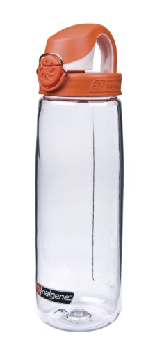 Nalgene Trinkflasche Everyday OTF, Transparent/Orange, 0.7 Liter