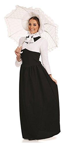 Adult Kostüm Viktorianischen - Viktorianisches Kleid in voller Länge, Damen-Kostüm, GB-Übergrößen: 8 - 30 uk 8-10