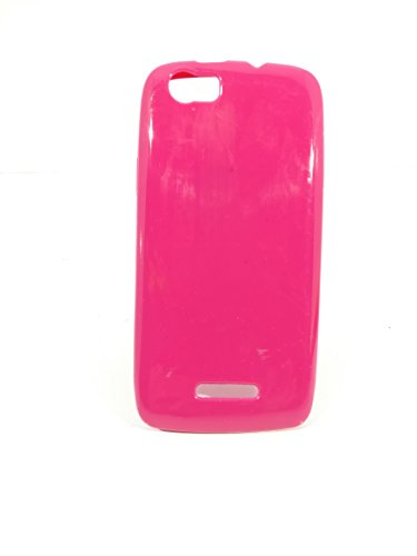 iCandy™ Colorfull Thin Soft TPU Back Cover For Xolo Q700S - Raspberry  available at amazon for Rs.99