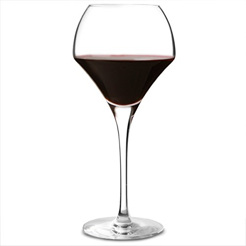 Open Up Round Wine Glasses 12.3oz / 370ml - Set of 6 | 37cl Wine Glasses, Wine Tasting Glasses, Kwarx Glasses by Chef & Sommelier