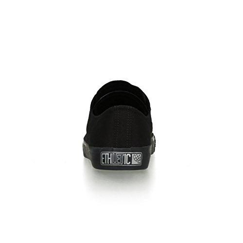 Ethletic Black Cap vegan LoCut - Farbe jet black / black aus Bio-Baumwolle Größe 42 - 4