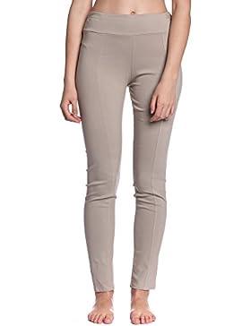 Abbino 6009 Pantalones para Mujeres - Hecho en ITALIA - 3 Colores - Entretiempo Primavera Verano Otoño Largos...