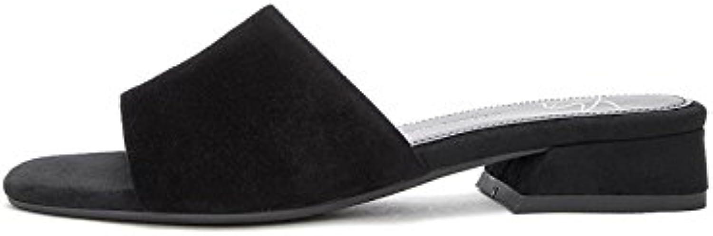 DHG Sandali estivi, Pantofole da donna alla moda, Sandali piatti casual, Sandali con tacco basso a tacco basso... | Menu elegante e robusto  | Scolaro/Ragazze Scarpa