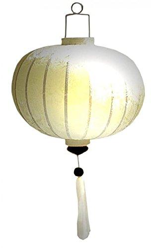 Vietnamesische orientalische Seide Bambus handgefertigte Laterne Lampe chinesische weiße 14