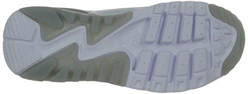 Nike W Air Max 90 Ultra Essential, Baskets Basses Femme Blanc - Weiß (100 WHITE/WHITE-WLF GRY-MTLLC SLVR)