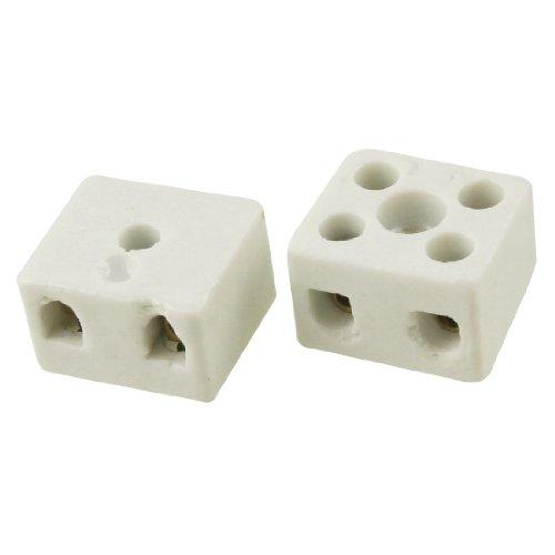 Lot de 2Fil connecteur 2Position double rangée Céramique bornier 16A