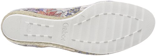Gabor Comfort Sport, Scarpe con Tacco Donna Multicolore (Multicolor Jute)