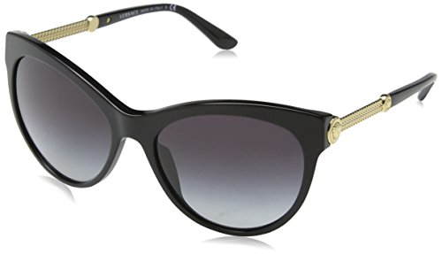 Versace Unisex VE4292 GB1/8G Sonnenbrille, Schwarz (Black), One size (Herstellergröße: 57)