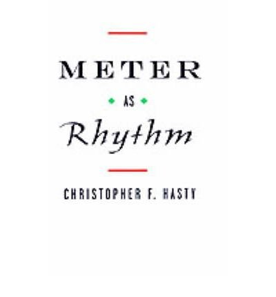 Meter as Rhythm (Hardback) - Common