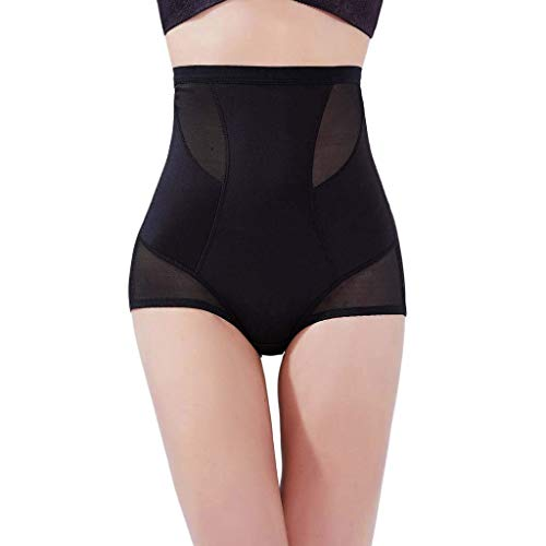 EUYOUZI Women's Summer Thin Section High Waist and Abdomen Shaping Underwear, Hips, Buckles, Underwear Shorts Briefs Body-Shaping Body Panty (Black) -