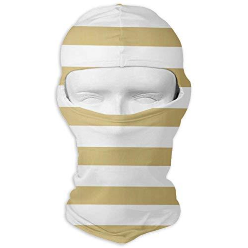 Wdskbg Balaclava Gold Stripes Full Face Masks Ski Sports Cap Motorcycle Neck Hood Cycling New17