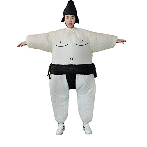 n Inflatable Sumo Dress Novelty Fat Man and Woman Suite Fat Masked Suit Fancy Blow Up Dress Wrestler Costume ()