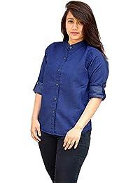 5fdc41ee21a RT Women s Shirt Top (Plain Denim Shirt S