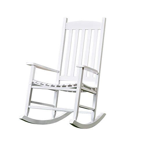 Yuan JIAN Freizeitstuhl Schaukelstuhl Massivholz frei und hemmungslos Freizeit-Lounge-Sessel im...
