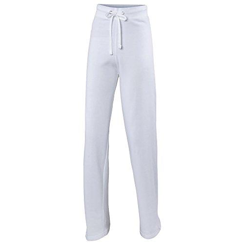 Awdis - Pantalones de chándal para mujer/chica (Grande (L)/Blanco polar)