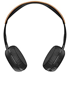 Skullcandy Grind On-Ear Bluetooth Headphones with Mic and Remote (Black/Tan)