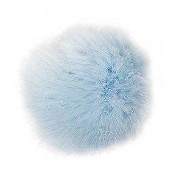 Rico Kunstfell Bommel 10 cm Farbe 22 - eisblau, Fellbommel, Pompon für Mützen