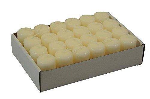 Kleine Stumpenkerze - 24 Stück - Höhe 5cm / Durchmesser 3cm - Farbe: Wollweiß - Safe Candle Durchmesser 3