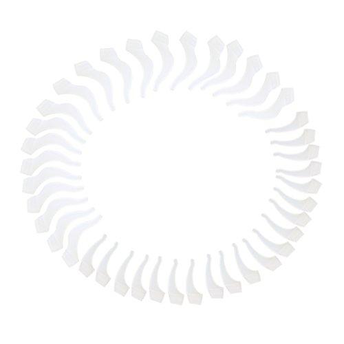 VORCOOL 20 Paar Brillen Ohr Verschluss Silikon Ohr Griff Haken Lock Grip Halter Nicht Slip Ohr Verschluss Halter für Brillen (weiß)