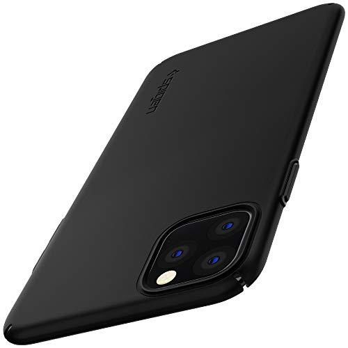 Spigen Funda iPhone 11 Pro, Thin Fit Air con Plástico Fino Mate y Un Agarre Excelente Compatible con Apple iPhone 11 Pro (5.8') 2019 - Black