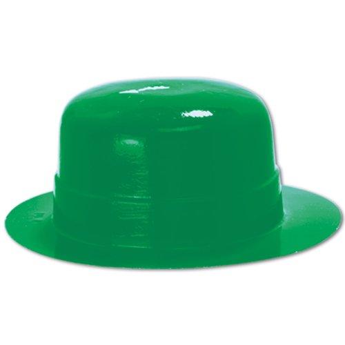 Beistle 3362148-pack Miniatur Kunststoff Derbies Party Hat, 4-3/4-Zoll von 2Zoll, Grün (Day Miniaturen Patricks St)