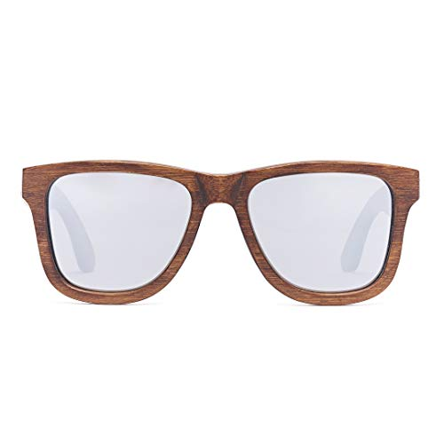 Bonizetti Unisex-Holz-Sonnenbrille San Diego UV 400 143mm
