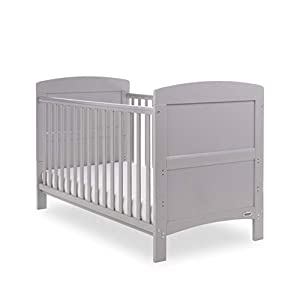 Obaby Grace Cot Bed, Warm Grey   14