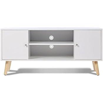 TemaHome - Nyla - Meuble TV en Bois, chêne Blanc, 120 x 34 x 50 cm ... a3f50f6e5262