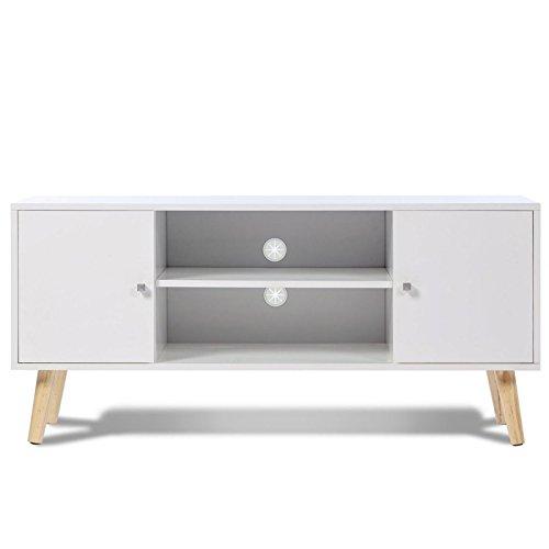 IDMarket - Meuble TV EFFIE scandinave bois blanc