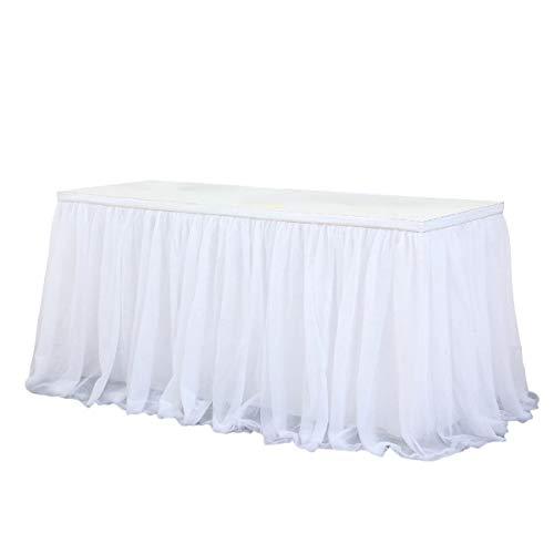 Toyvian Tutu Jupe De Bureau Maille Bureau Jupe Fournitures De Fête pour Fête Mariage Anniversaire Décors Maison (Blanc)
