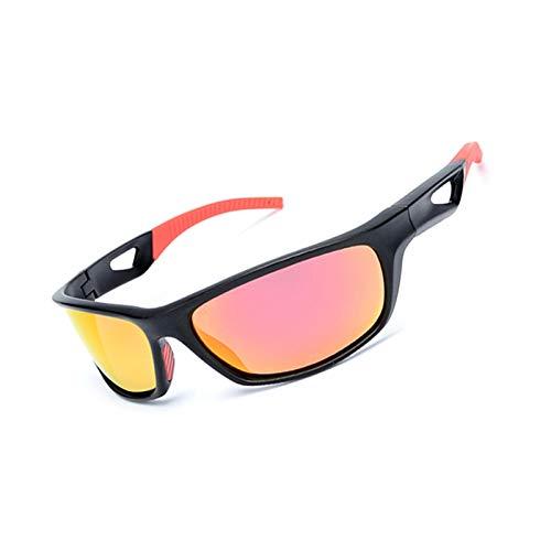 Abellale Polarisierte Sonnenbrillen Herren Damen Outdoor Sportarten Reiten Sonnenbrillen Schwarz Rot