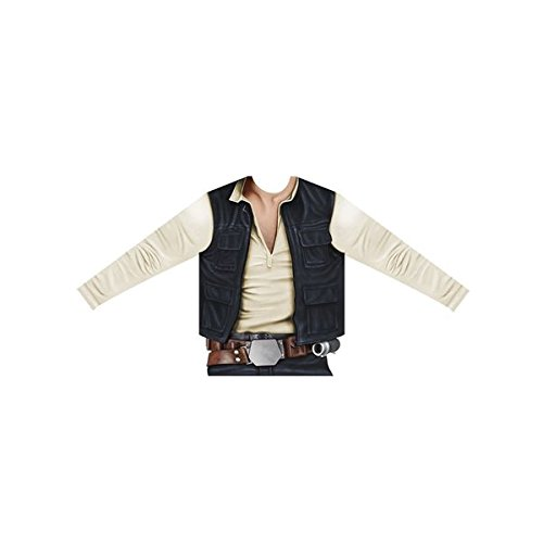 viving Kostüme viving costumes231058 HAN SOLO Jungen, Long Sleeve T-Shirt (8–10 Jahre, One size)
