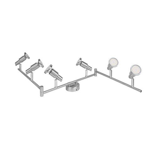 OSRAM - Applique Plafonnier LED - 6 Spots Orientables - 6 Spots GU10 3W Equivalent 35W Inclus - Blanc Chaud 2700K