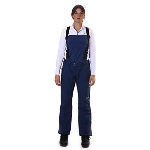 Dare 2b–giacca impermeabile e traspirante supporto per pantaloni da sci salopette ii, donna, dww423r, blue wing, taglia 6