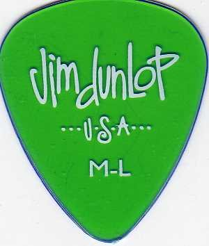 12 x Jim Dunlop Gels grün mittlere Stärke light Gitarrenplektren