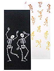 Dancing skeletons Küche Handtücher, Set von 2