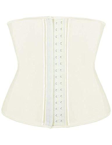 Plus Größe Kostüm 70 - FeelinGirl Damen Unterbrustcorsage Elfenbein L