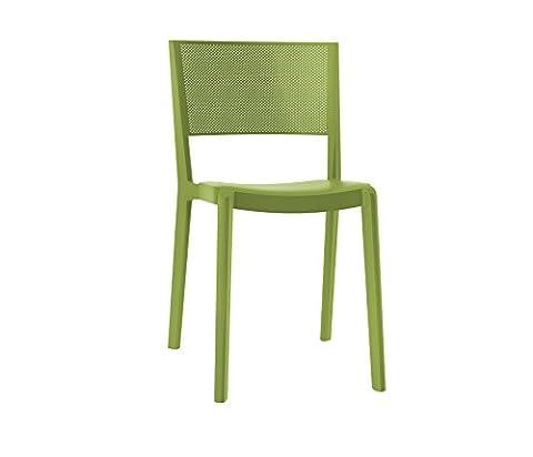 Resol chaise Spot - couleur vert olive, set de 2 unités
