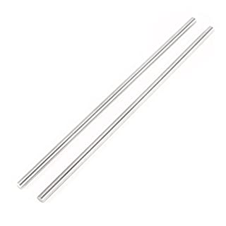 SODIAL(R) 2pcs Steel Round Rod Turning Lathe Bars Tool 6mm x 200mm