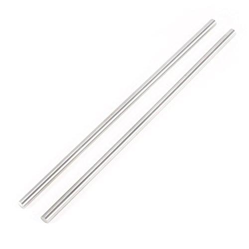 Preisvergleich Produktbild SODIAL(R) 2 Stueck Stahl Rundstange Drehbank Barhocker 6 mm x 200 mm