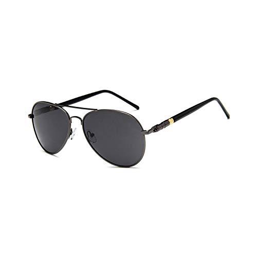 Vikimen Sportbrillen, Angeln Golfbrille,Brand Designer Men Photochrom Pilot Sunglasses Driving Driver Polarisiert Sunglasses Goggles Metal Glasses gray Polarisiert lens