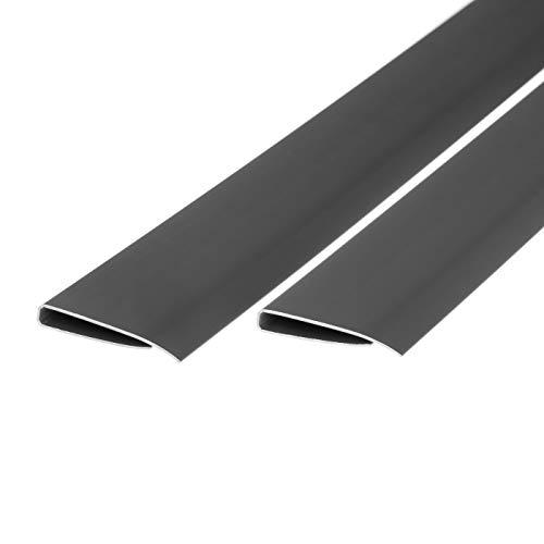 Ventanara Abdeckprofil PVC Sichtschutz Zaun 2x1m Zaunabdeckung 2er Set (Grau)