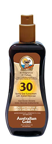 Australian Gold SPF 30 With Instant Bronzer Spray Gel 237Ml